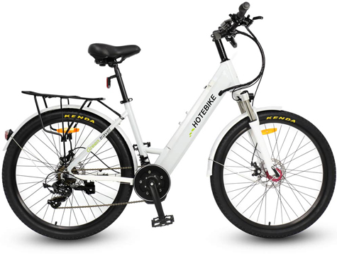 Mid-drive motor electric cruiser bicycle 26 inch