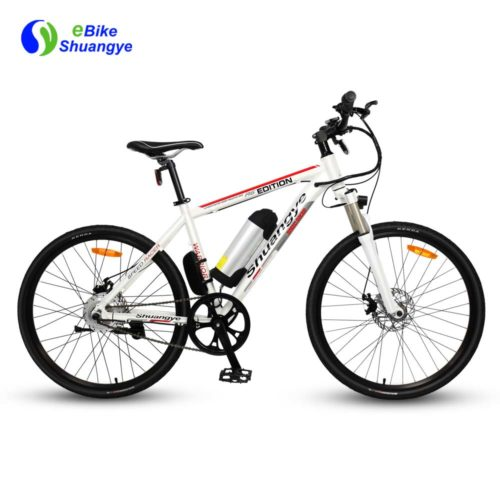Single speed pedal assist mountain ebike A6AB26