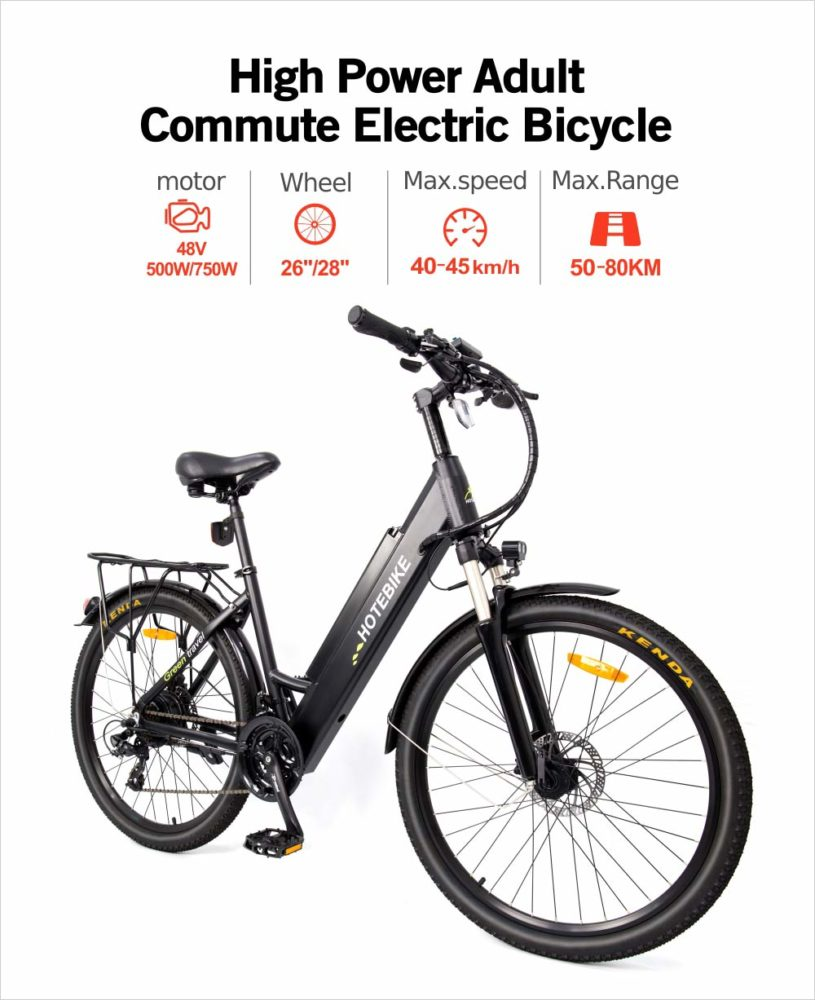 city woman electric bike