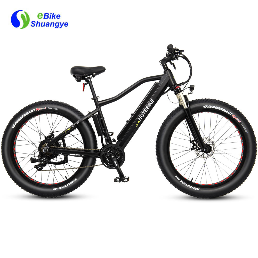 Fat tire mountain electric power assist bike 750W 1000W A6AH26F