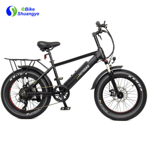 20 inch commuting electric fat tire bike 48V 500W 750W A6AH20F