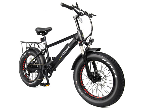 20-inch small fat tire electric bicycle with 500w