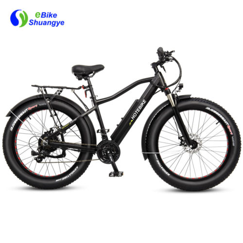 New design high capacity motorized fat tire bike A6AH26F
