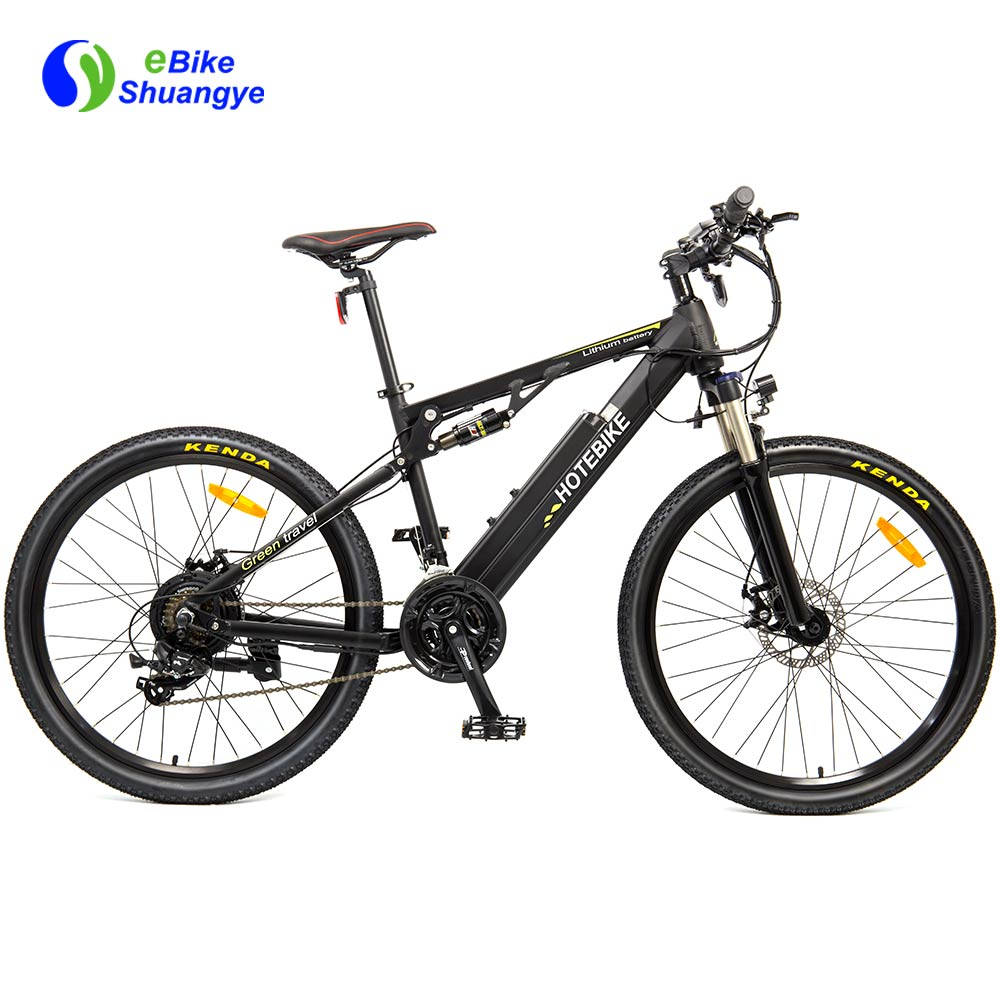 48V High Power Full Suspension Mountain Ebike A6AH26-S