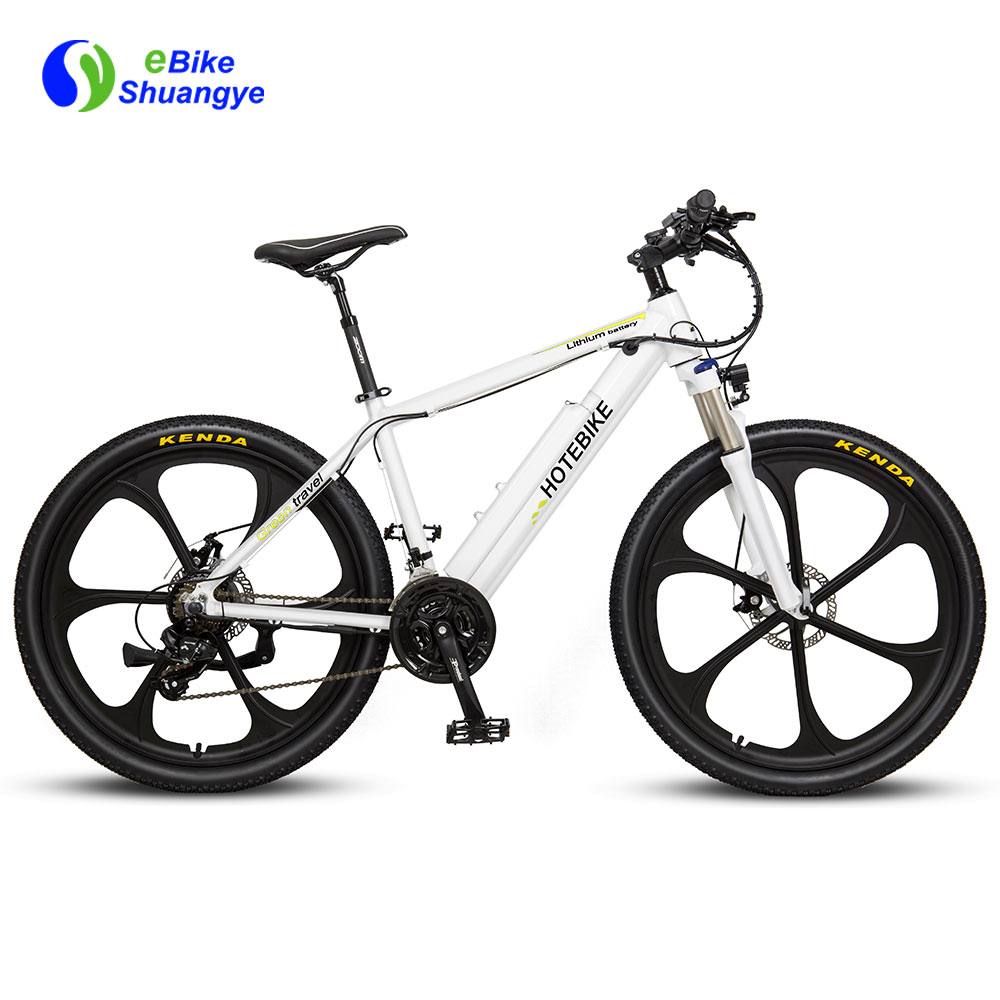 500W electric mountain bikes 6-spoke integrated wheel A6AH26M