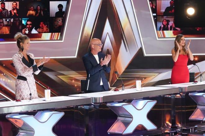 """""""America's Got Talent"""" judges (l-r) Heidi Klum, Howie Mandel and Sofia Vergara."""