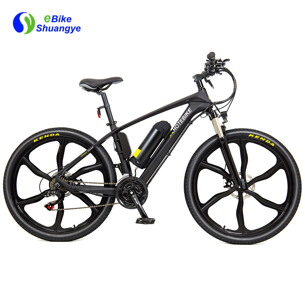 Electric carbon fiber bike 26-inch integrated wheel