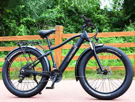 An electric fat tire mountain bike 48v 750w