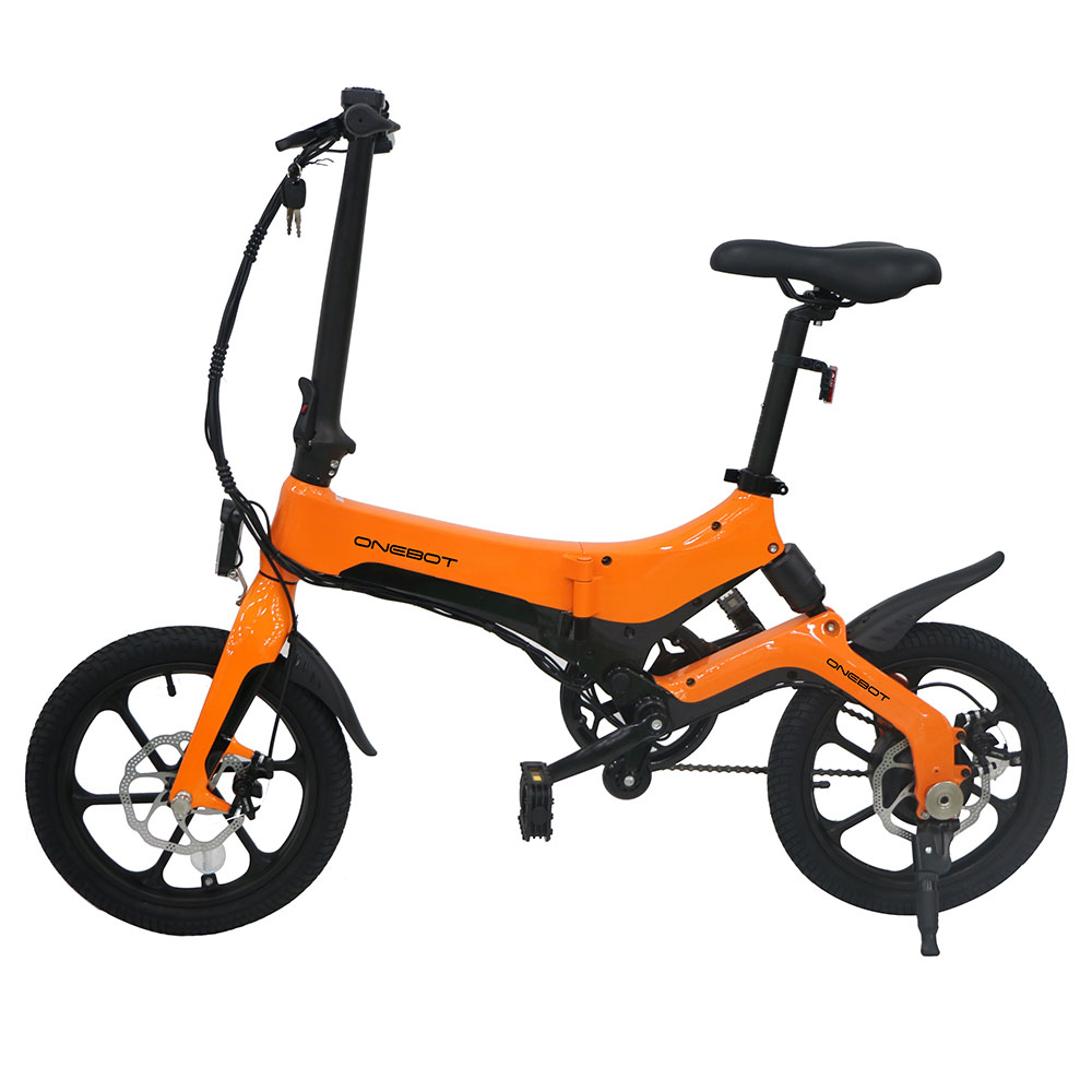 ONEBOT S6 Folding Electric Bike 250W Motor Max 25km/h Orange