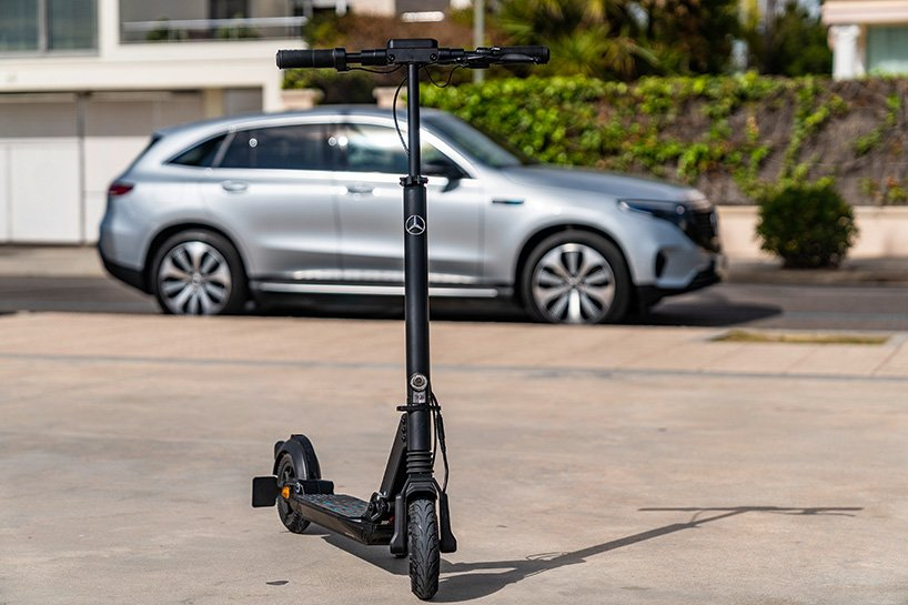 mercedes-benz introduces eScooter, a 500W full-suspencion electric scooter