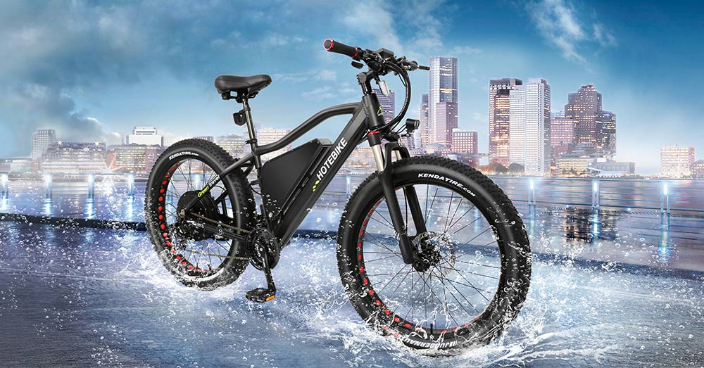 Hot Fat Tire Electric Bike With 21 Speed Derailleur, Large Power Lithium Battery A7AT26