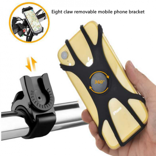 Bicycle mobile phone holder to install the demo