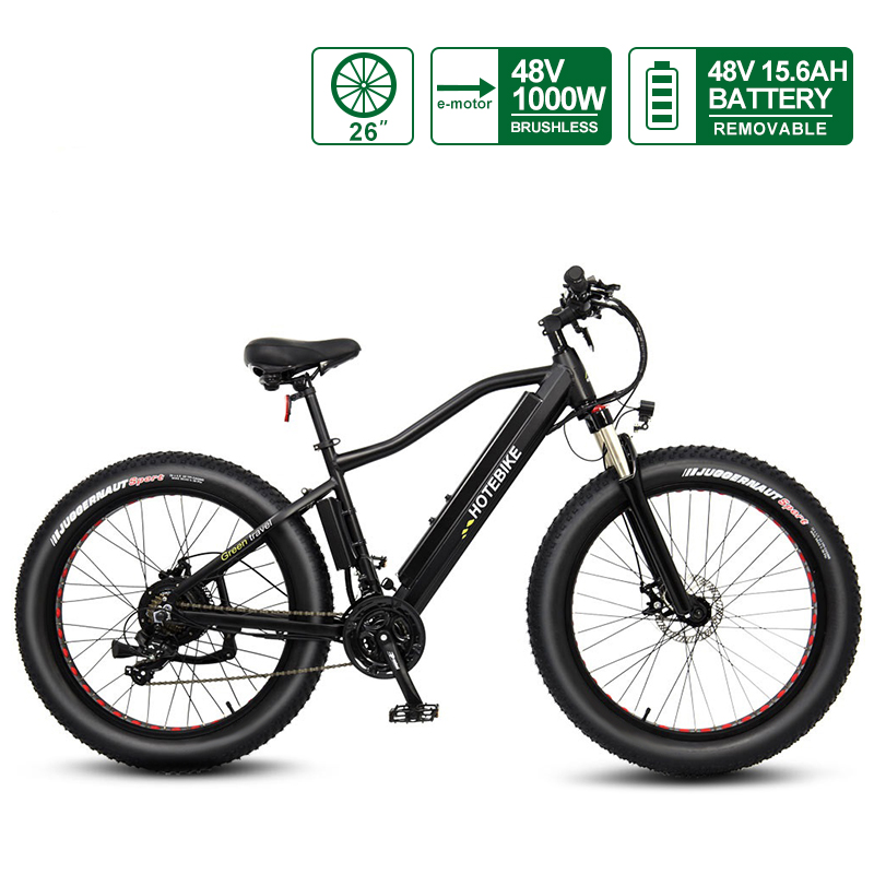 electric fat bike 48V 1000W bafang motor 48v15.6AH battery A6AH26F