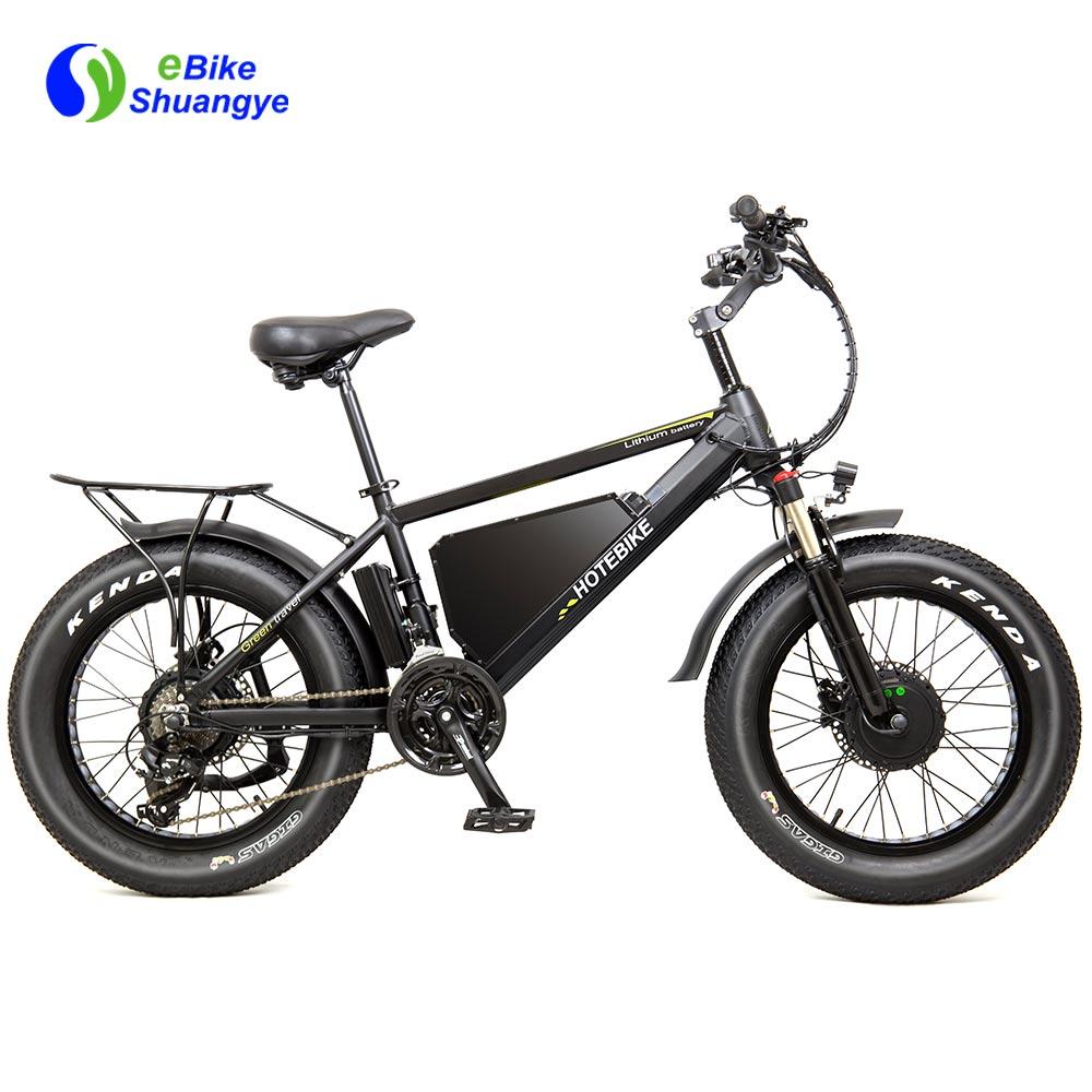 nova moto elétrica 48V 750W duplo motor
