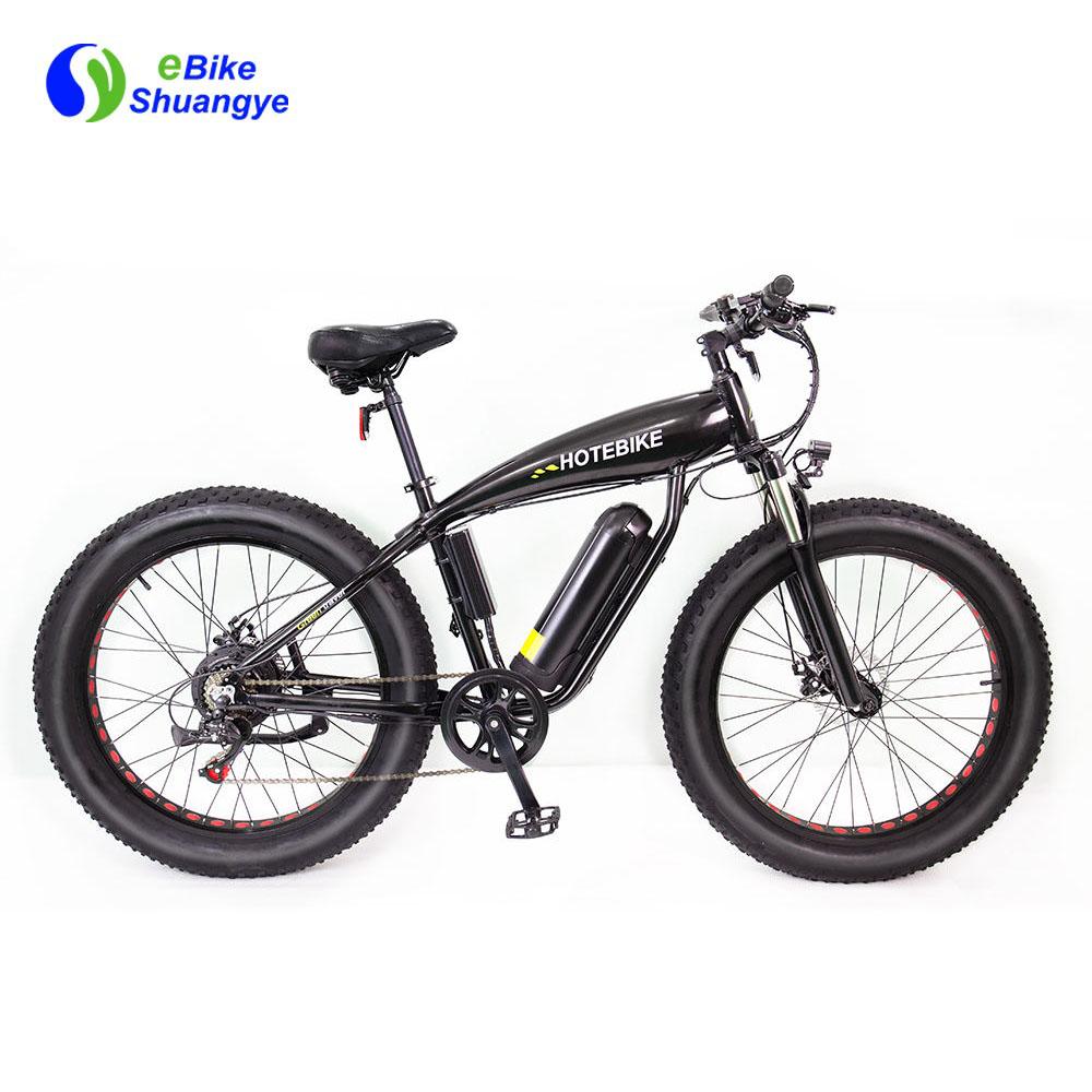 750w fat tire electric bike 48v brushless geared motor